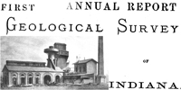 First Annual report Geological Survey of Indiana