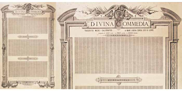 La Divina Commedia in una pagina